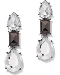 New York & Company - Faceted Faux-stone Silvertone Drop Earring - Lyst