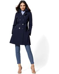 a87c54f624 New York   Company - Belted Trench Coat - Lyst