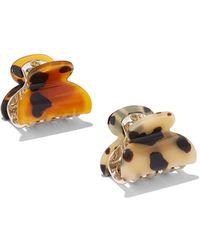 New York & Company - 2-piece Faux-tortoise Hair Clip Set - Lyst