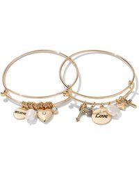 New York & Company - 2-piece Charm Bangle Bracelet Set - Lyst