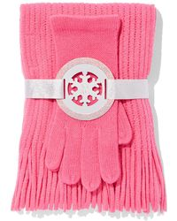 New York & Company - 2-piece Textured Scarf & Gloves Set - Lyst