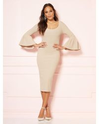 6215a9ac5bc New York   Company - Frieda Sweater Dress - Eva Mendes Party Collection -  Lyst