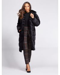 New York & Company - Gabrielle Union Collection - Velvet Puffer Coat - Lyst