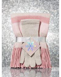 New York & Company - 2-piece Striped Glove & Scarf Gift Set - Lyst