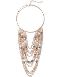New York & Company - Rose Goldtone Collar Statement Necklace - Lyst