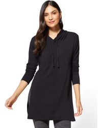New York & Company - Hooded Tunic Top - Lyst