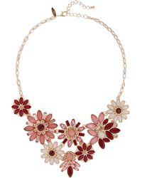 New York & Company - Goldtone Floral Statement Necklace - Lyst