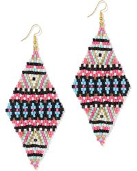 New York & Company - Multicolor Beaded Kite Drop Earring - Lyst