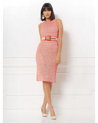 New York & Company - Ronda Stripe Sweater Dress - Eva Mendes Collection - Lyst