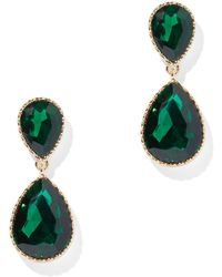 New York & Company - Double Crystal Drop Earring - Lyst