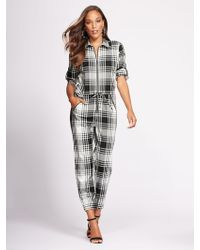 aa34c1bc71bf New York   Company - Zip-front Jumpsuit - Gabrielle Union Collection - Lyst