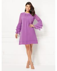 New York & Company - Eva Mendes Collection - Bell-sleeve Sabrina Dress - Lyst