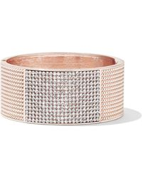 New York & Company - Textured Pave Cuff Bracelet - Lyst