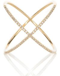 EF Collection - Diamond X Ring - Lyst