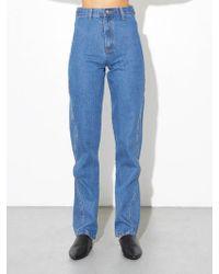 OAK - High Cut Out Jean - Indigo - Lyst