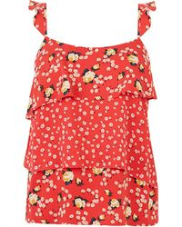 Oasis Ditsy Patched Tiered Cami