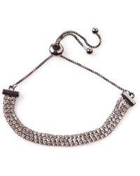 Oasis - Crystal Chain Slider Bracelet - Lyst