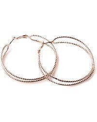 Oasis - Double Twist Hoop Earrings - Lyst