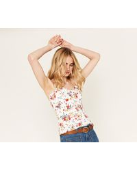 Oasis - Floral Cotton Cami Top - Lyst