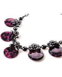 Oasis - Crystal Resin Disc Necklace - Lyst
