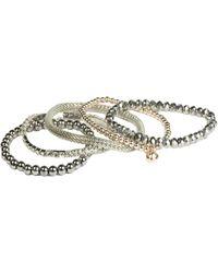 Oasis | 5pk Beaded Bracelet | Lyst