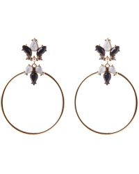 Oasis - Jewel Hoops - Lyst
