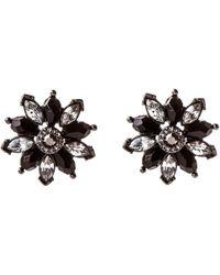 Oasis - Black Daisy Earrings - Lyst
