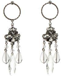 Oasis - Clear Resin Earrings - Lyst