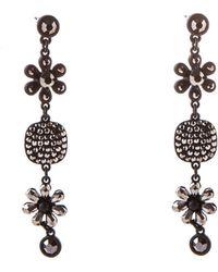 Oasis - Crystal Flower Earrings - Lyst