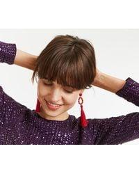 Oasis - Beaded Tassel Earrings - Lyst