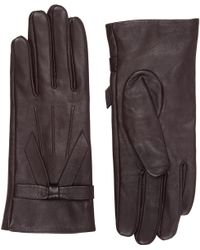 Oasis - Leather Bow Glove - Lyst