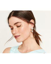 Oasis - Jewel Hoop Earrings - Lyst