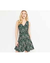 Oasis - Tropical Geo Jacquard Dress - Lyst