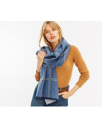 Oasis - Two Tone Check Scarf - Lyst