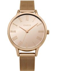 Oasis - Mesh Strap With Metallic Dial - Lyst