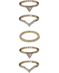 Oasis - Geo Stacked Rings - Lyst