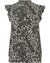Oasis Mollie Leopard Shell Top
