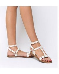 Office - Serpent- Gladiator Sandal With Ankle Strap - Lyst