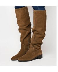 Office - Kove- Flat Slouch Suede Boot - Lyst