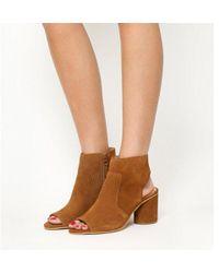 Office - Marley Block Heel Peep Toe Shoeboots - Lyst