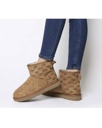 6ab2af1eecb UGG Classic Short Pendleton Boots in Brown - Lyst