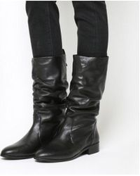 Office - Knoxville- Ruched Calf Boot - Lyst