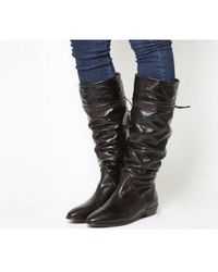 d84aadd0676b Office - Kitty- Vintage Slouch Brogue Detail Boot - Lyst