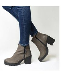 7a95f10e5dd4 Vagabond Grace Platform Boots in Gray - Lyst