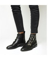Office - Amsterdam- Multi Buckle Studded Boot - Lyst