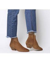 Office - Atone- Western Block Heel Boot - Lyst
