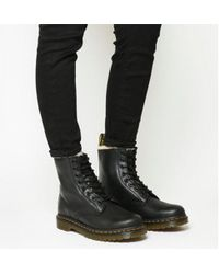 Dr. Martens - Serena 8 Eyelet Shearling Boots - Lyst