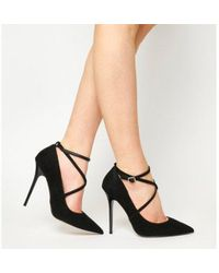 1faa17b689b Office Hilda Patent Pointed Court Shoes in Black - Lyst