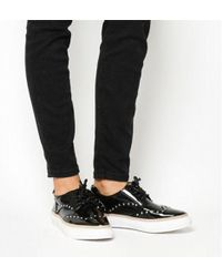 d840295bf98 Office - Proud Studded Lace Up Trainer - Lyst