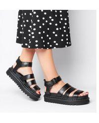 0f5c7fcf08b3 Lyst - Dr. Martens Blaire Sandal in Black